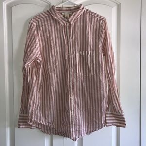 H&M striped button up top